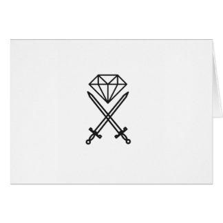 Diamond cut card