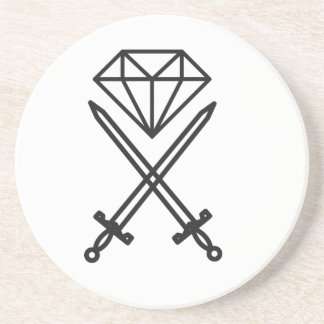 Diamond cut coaster