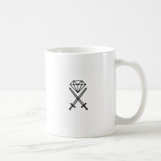 Diamond cut coffee mug