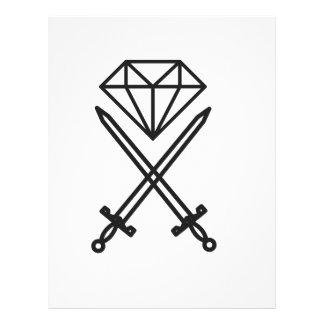 Diamond cut custom letterhead