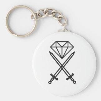 Diamond cut keychain