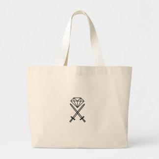 Diamond cut large tote bag