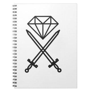 Diamond cut notebooks
