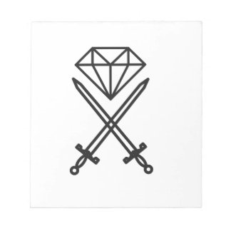 Diamond cut notepad