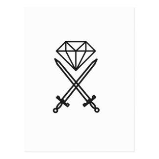 Diamond cut postcard