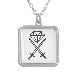 Diamond cut silver plated necklace