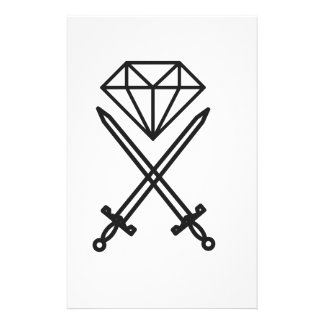 Diamond cut stationery