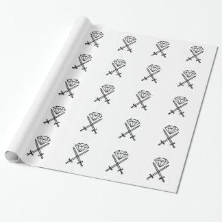 Diamond cut wrapping paper