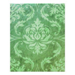 Diamond Damask, COLORFUL RAIN in Green & Olive Poster