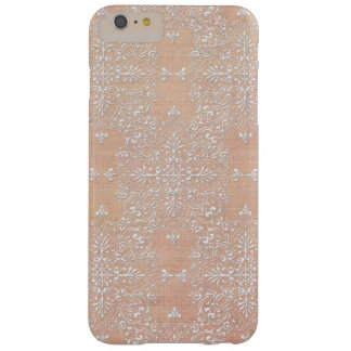 Diamond Damask Lace Peach iPhone Case