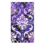 Diamond Damask, SHANGHAI in Purple Pack Of Standard Business Cards