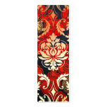 Diamond Damask, SHANGHAI in Red Pack Of Skinny Business Cards