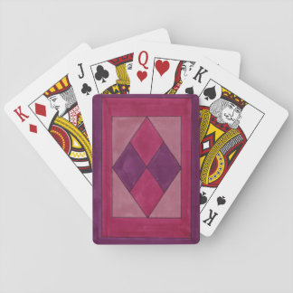 Diamond design playing cards