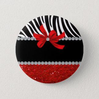 Diamond Diva (red glitter) 2 Inch Round Button
