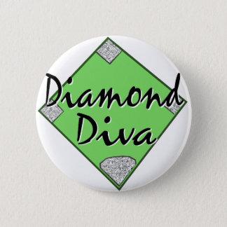 Diamond Diva Softball 2 Inch Round Button