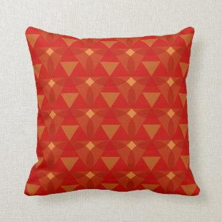 Diamond Dots Red Orange Diamond Throw Pillow