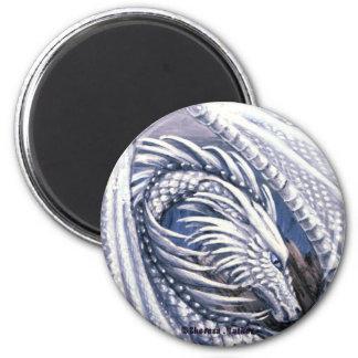 Diamond Dragon Round Magnet