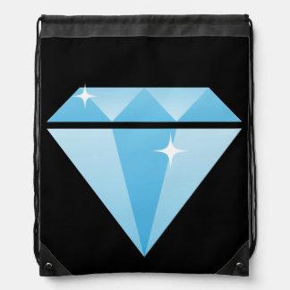 Diamond Drawstring Backpack