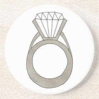 Diamond Engagement Ring Bling Fashionista Bride Coaster