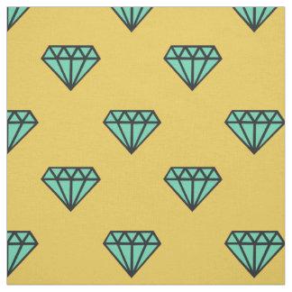 Diamond Fabric: blue & yellow Fabric