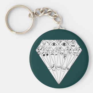 Diamond Feelings, Many Facets Basic Round Button Keychain