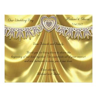 Diamond Fleurette & Satin Gold Custom Flyer