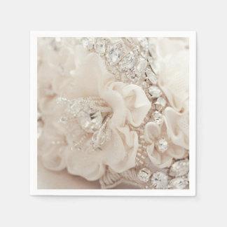 Diamond Flower Napkins Oh So Pretty