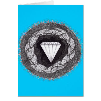 Diamond Formed Under Great Pressure Card