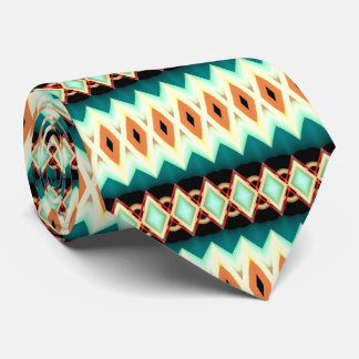 Diamond Fractal Pattern Tie