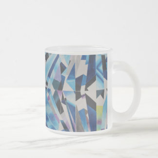 Diamond Frosted 10 oz Frosted Glass Mug
