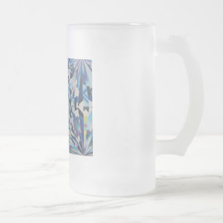 Diamond Frosted 16 oz Frosted Glass Mug
