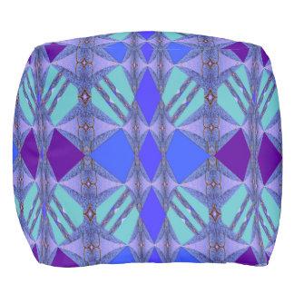Diamond Fun on Blue/Purple/Aqua/Pink/Gold Pouf