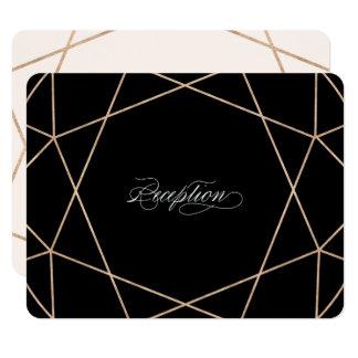 Diamond Gemstone Geometric Wedding Reception Card