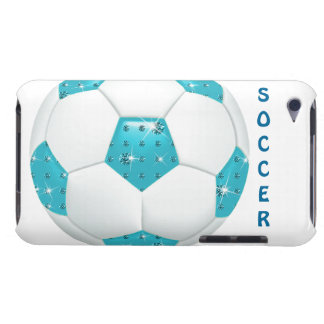 Diamond Gemstones Aqua Soccer Ball iPod Case-Mate Cases