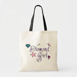 Diamond Girl Tote Bags