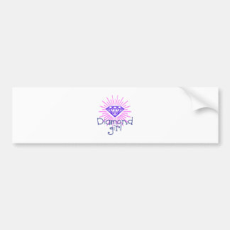 diamond girl, gem shining bumper sticker