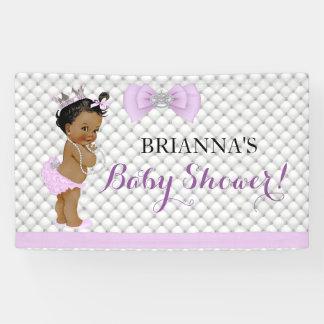 Diamond Glitter Ethnic Princess Baby Girl Lavender Banner