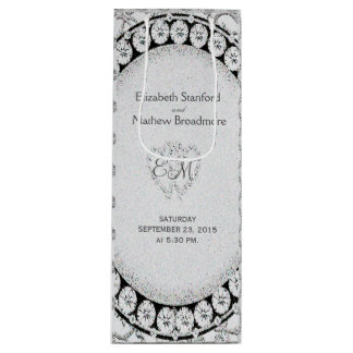 Diamond Glitter | Wedding Wine Bag