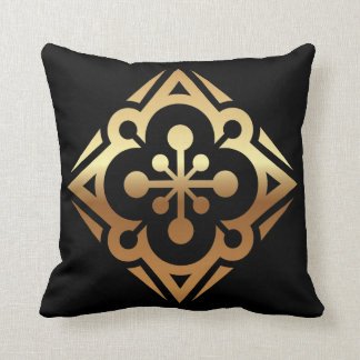 Diamond Gold Star Polyester Throw Pillow