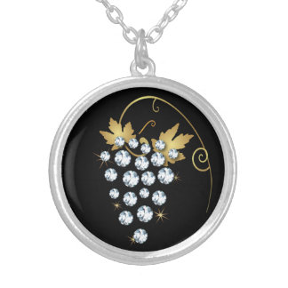 Diamond Grapes Rhinestone Design Necklace