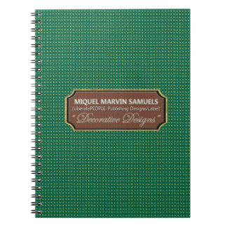 Diamond Green Decorative Modern Notebook