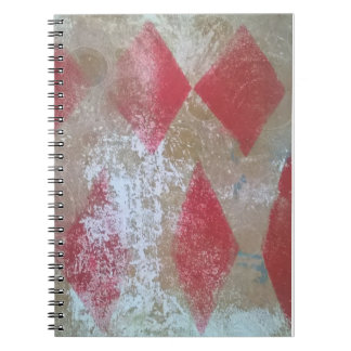 Diamond grunge notebook