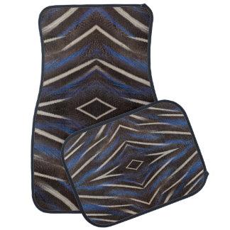 Diamond guinea fowl feather design car mat