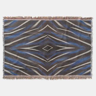Diamond guinea fowl feather design throw blanket
