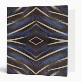 Diamond guinea fowl feather design vinyl binders