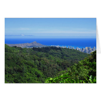Diamond Head and Waikiki Card