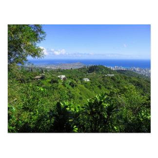 Diamond Head and Waikiki Postcard