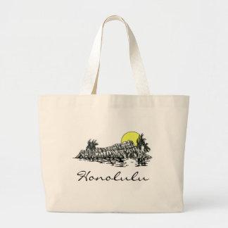 Diamond Head, Honolulu Tote Bags