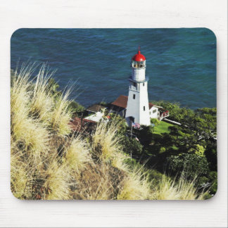 Diamond Head top view of Light House 3 Mouse Pad