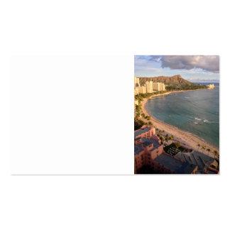 Diamond Head, Waikiki Beach, Hawaii Business Cards